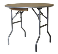 """36"""" Round Wooden Table Straight View"""