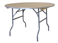 "48"" Round Wooden Table Straight View"