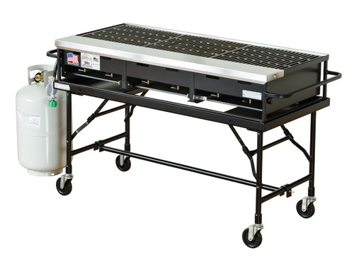 """24"""" x 48"""" Portable Propane Gas Grill With Stand"""
