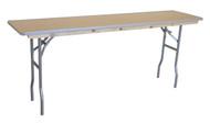 "6' x 18"" Rectangular Wooden Seminar Table Left Angle"