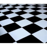 15' x 15' Black & White Checkered Dance Floor