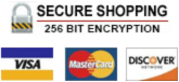 credit cards accepted - Visa - MasterCard - American Express - Discover