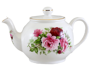 Heirloom Summertime Rose Betty 2 cup bone china teapot