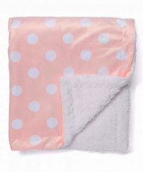 "Baby Mode Pink With White Dots 30"" x 40"" Receiving Blanket"