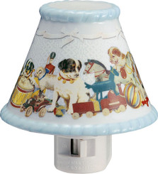 Blue Ceramic child's 4 inch nightlight, , by Gund