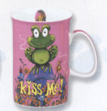 Kiss Me' 8 oz porcelain mug
