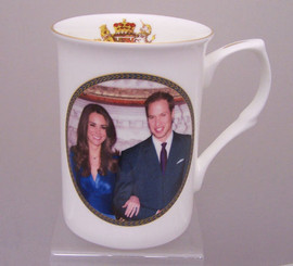 William & Catherine bone china mug