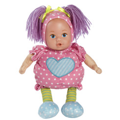 Adora Snuggle-Time Baby Pink Dots 13' Cloth Doll with Vinyl Face