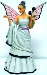 Black Rose'  6' Fairy Figurine by Giovanna Adams