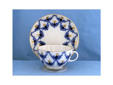 Evening Time porcelain cup and saucer by Russian Imperial Porcelain