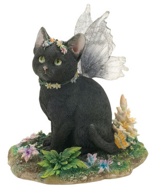 "Mystique 3.5"" Black Cat Figurine"
