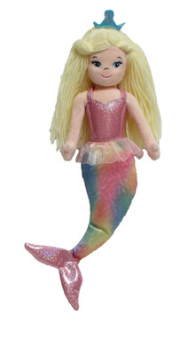 """Shirley the Mermaid"" 8"" Cloth Mermaid doll plays ocean sounds"