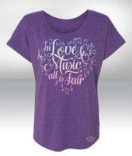 Love and Music Dolman Tee