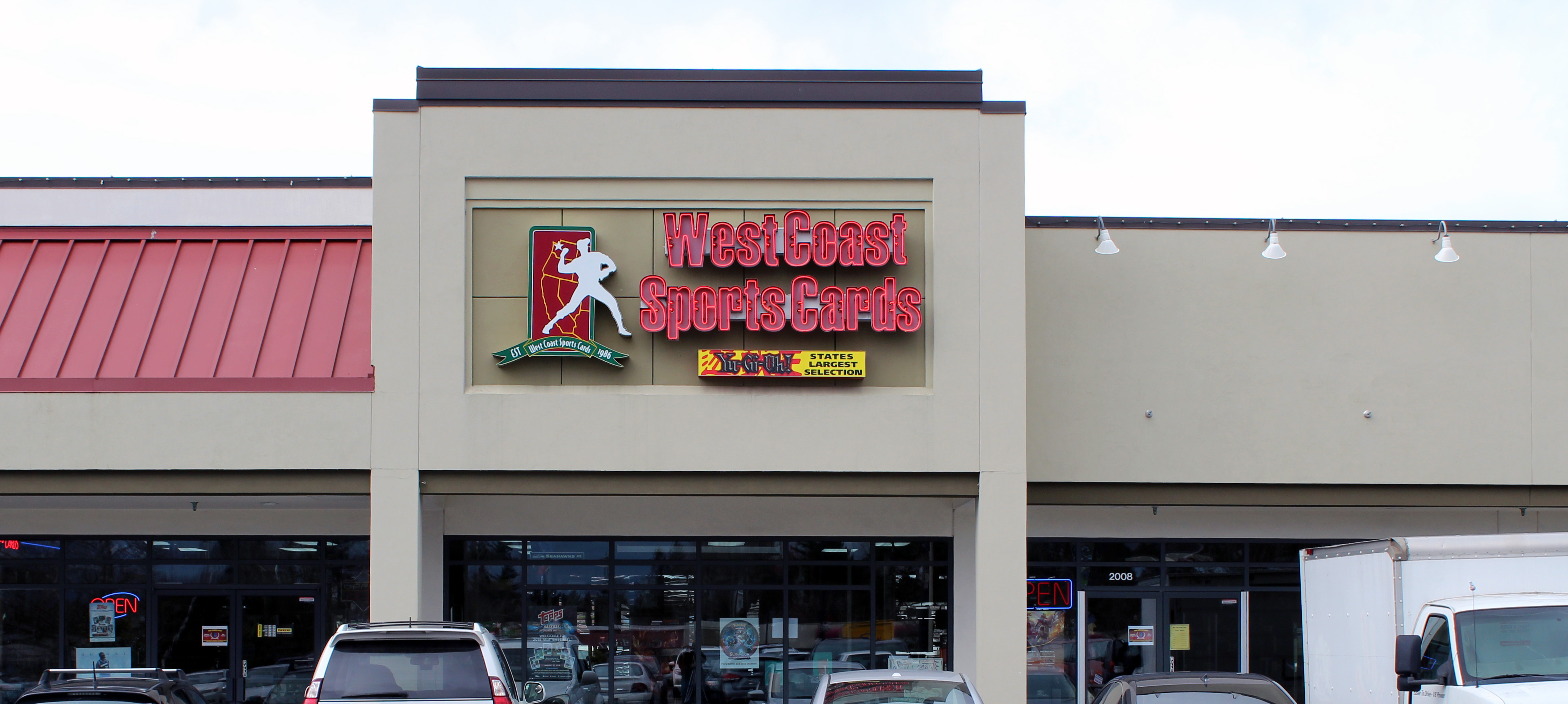 PICTURE OF STORE FRONT OF WEST COAST SPORTS CARDS