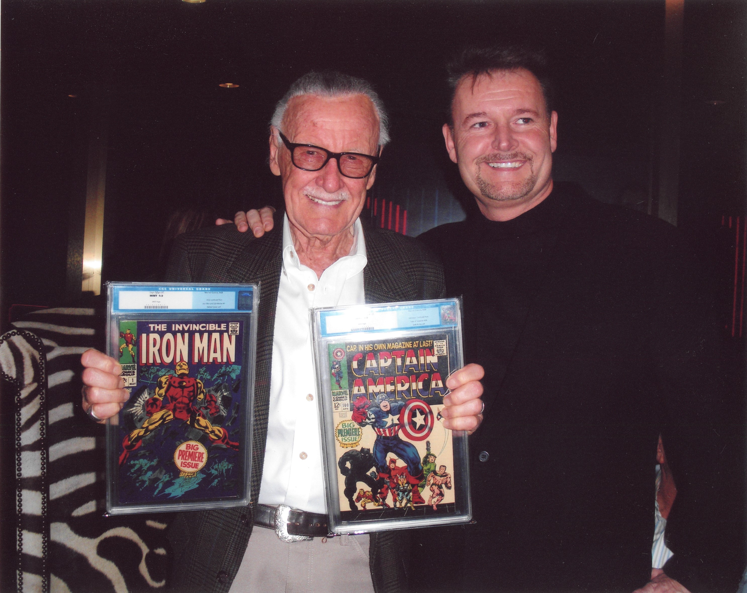 CEO Darren Adams with Stan Lee