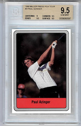 1990 DONRUSS MILLER PRESS GOLF PGA TOUR PAUL AZINGER BGS 9.5