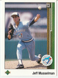 1989 UPPER DECK JEFF MUSSELMAN #41 ERROR CARD