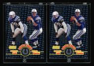 1998 Peyton Manning Stadium Club Double Threat RC 2ct Lot