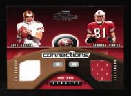 2002 Playoff Connections Terrell Owens Jeff Garcia Dual Game used Jersey 198/500