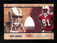 2002 Terrell Owens Jeff Garcia Fleer Classic Combinations Game useed Jersey