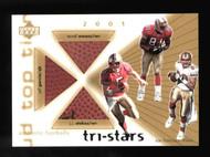 2001 Upper Deck Tri-Stars Owens Stokes Garcia Triple Game used Football