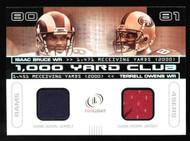 2001 Fleer Legacy 1000 Yard Dual Game Jersey Isaac Bruce Terrell Owens 320/400