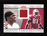 2003 Fleer Classic Combinations Terrell Owens Randy Moss Game Used Jersey #CC-TO