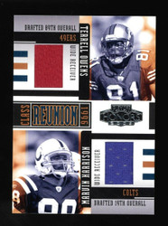 2005 Terrell Owens Marvin Harrison Playoff Honors Dual Game Used Jersey 02/150