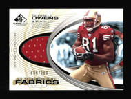 2004 SP Game Used Jersey 2 ct Lot Terrell Owens Gold 8/100