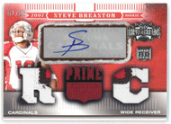2007 TOPPS TRIPLE THREADS STEVE BREASTON 1 /25 PATCH AUTO