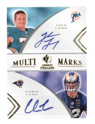 2008 SP ROOKIE THREADS JAKE LONG/CHRIS LONG DUAL ROOKIE RC AUTO 13/299