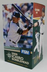 2009 Ichiro Bobblehead FSN 1 of 4 Safeco Field Series Great Condition