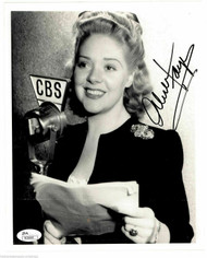 ALICE FAYE (DECEASED) OSCAR WINNER CBS PROMO AUTOGRAPH SIGNED 8X10 JSA #N38968