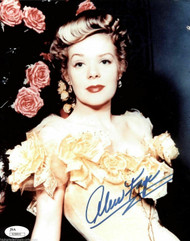 ALICE FAYE (DECEASED) OSCAR WINNER AUTOGRAPH SIGNED 8X10 JSA #N38893