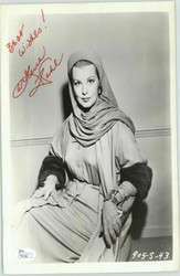 "ARLENE DAHL OSCAR WINNER ""SHE PLAYED WITH FIRE"" PROMO SIGNED 8X10 JSA #P41581"