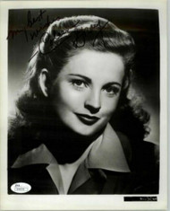 COLEEN GRAY, ACTRESS (DECEASED) SIGNED 8X10 JSA AUTHENTICATED COA #N44578