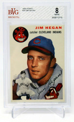 1954 TOPPS JIM HEGAN #29 BECKETT BVG 8 NM-MT 0008713719