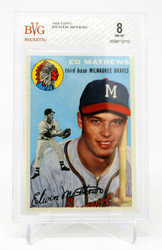 1954 TOPPS EDDIE MATHEWS #30 HOF BECKETT BVG 8.0 NM-MT 0008713715