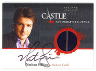 Nathan Fillion Auto - Wardrobe Card - Castle TCG Season 1 & 2 # 38/175 - SPP/NM