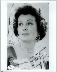 RUTH HUSSEY, ACTRESS (DECEASED) SIGNED 8X10 JSA AUTHENTICATED COA #N44660