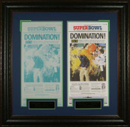 SEATTLE SEAHAWKS SUPER BOWL DOMINATION ! FRONT PAGE AND PRESS PLATE