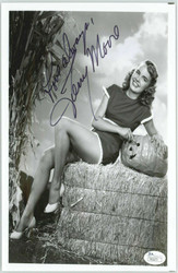 TERRY MOORE, ACTRESS, POSED IN PLAYBOY SIGNED 8X10 PROMO JSA AUTHEN. COA #P4167