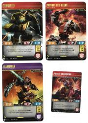 Transformers Promo Lot Flamewar, Bumblebee, Private Red Alert, Private Smashdown