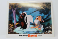 WALT DISNEY'S BAMBI'S FLOWER AND THUMPER LOBBY CARD GREAT CONDITION !!!