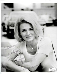 "ANGIE DICKINSON SIGNED INSCRIBED ""POLICE WOMAN"" 8X10 JSA COA #R66814"