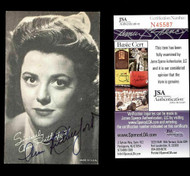 ANN RUTHERFORD DECEASED VINTAGE 3X5 SCARLETT'S SISTER IN GWTW SIGNED JSA N45587
