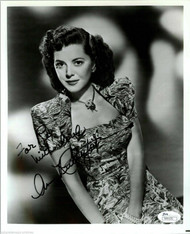 ANN RUTHERFORD DECEASED SCARLETT'S SISTER IN GONE W/ THE WIND SIGNED JSA #N44476