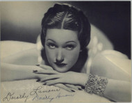 DOROTHY LAMOUR (DECEASED) AUTOGRAPHED SIGNED 8X10 JSA AUTHENTICATED COA #N44370