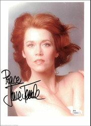 JANE FONDA AUTOGRAPHED SIGNED 8X10 STUDIO PHOTO JSA COA #N38904