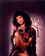 JENNIFER TILLY AUTOGRAPHED SIGNED 8X10 PHOTO SITTING SEXY IN A CHAIR. WITH COA
